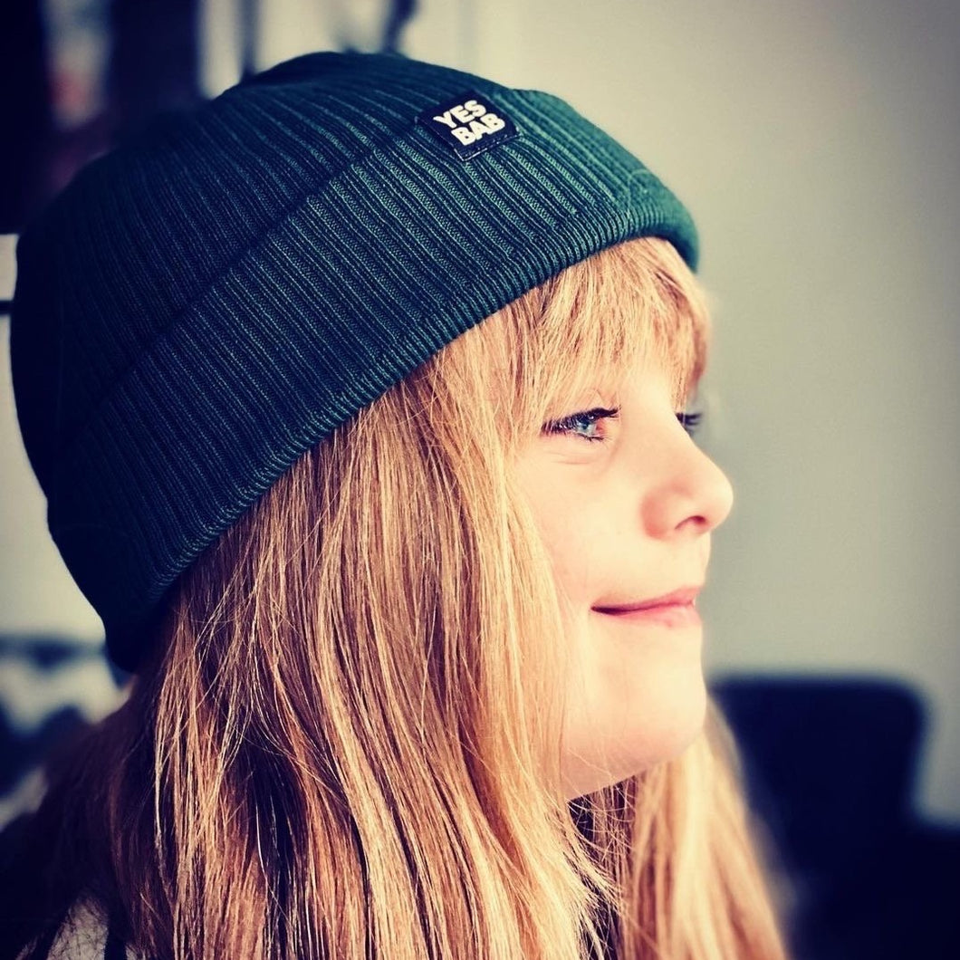 Kids Preorder- Garment dyed organic ribbed beanie