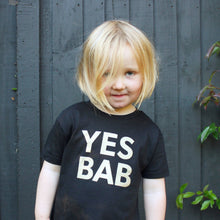 Load image into Gallery viewer, YES BAB eco glitter kids tee