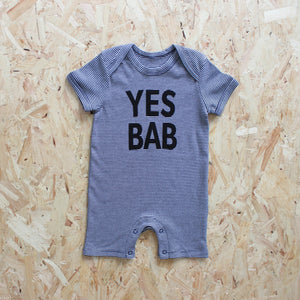 YES BAB shortie stripe romper