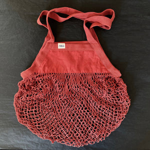 *new!* Organic cotton net bag- brick