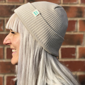 Classic organic ribbed beanie- paperback