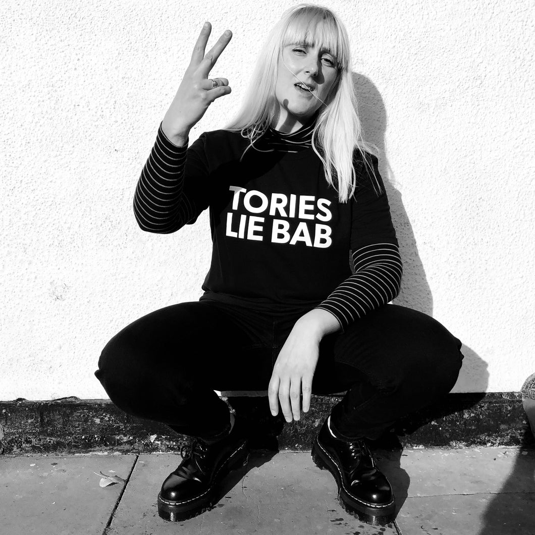 TORIES LIE BAB adult tee