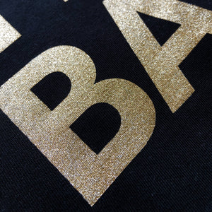 YES BAB eco glitter adult tee