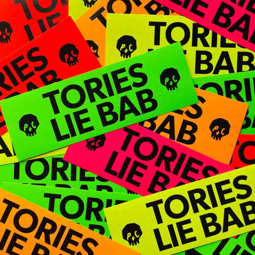 TORIES LIE BAB fluoro sticker pack