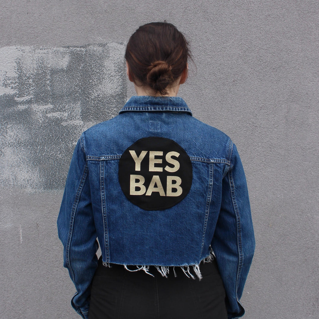 YES BAB vintage Gap frayed crop