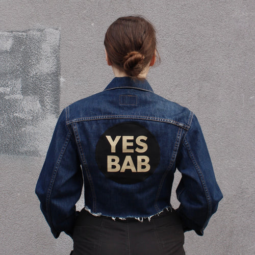 YES BAB vintage Levis dark denim crop