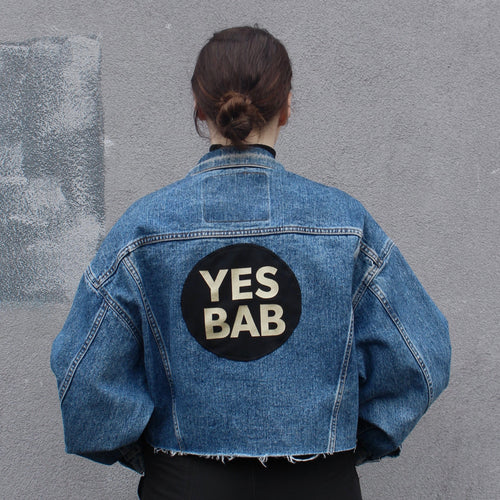YES BAB vintage Levis frayed crop