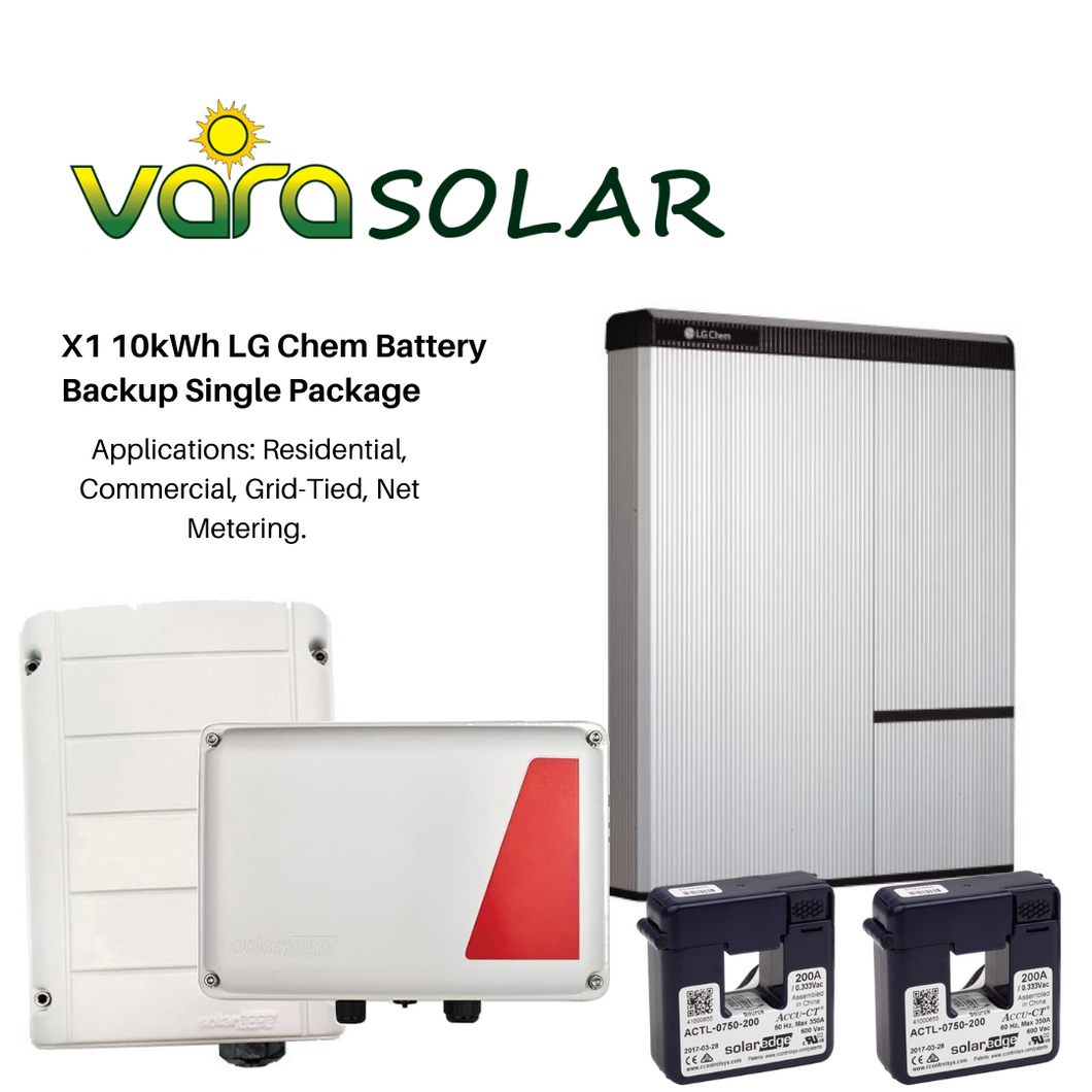 VARASOLAR™ X1 10kWh LG Chem Battery Backup Single Package