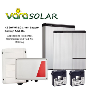 VARASOLAR™ X2 20kWh LG Chem Battery Backup Add- On