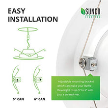 Load image into Gallery viewer, Sunco Lighting 4 Pack 5/6 Inch LED Recessed Downlight, Baffle Trim, Dimmable, 13W=75W, 4000K Cool White, 965 LM, Damp Rated, Simple Retrofit Installation - UL + Energy Star