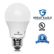 Load image into Gallery viewer, Great Eagle 100W Equivalent LED Light Bulb 1500 Lumens A19 Warm White 2700K Dimmable 14-Watt UL Listed (6-Pack)