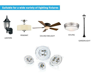"Silverlite 7"", 28W, 5000K, 2450LM, 120V, CRI80, Dimmable LED Light Engine, Retrofit Light Kit for Ceiling Flush Light, Ceiling Fan Light, Pendant, Lantern, Garden light, 8.39"" Corner to Corner"