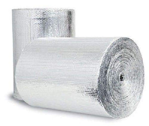 400sqft Double Bubble Reflective Foil Insulation (4 X 100 Ft Roll) Industrial Strength, Commercial Grade, No Tear, Radiant Barrier Wrap (Weatherproofing Attics Windows Garages RV's Ducts & More)