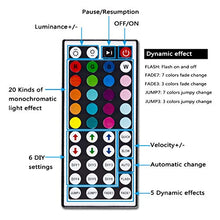 Load image into Gallery viewer, LED Strip Light Waterproof 600leds 32.8ft 10m Waterproof Flexible Color Changing RGB SMD 5050 600leds LED Strip Light Kit with 44 Keys IR Remote Controller and 12V Power Supply
