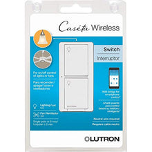 Load image into Gallery viewer, Lutron Caseta Wireless Smart Lighting Switch for All Bulb Types and Fans PD-5ANS-WH-R, White