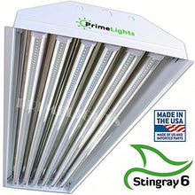Load image into Gallery viewer, 6 Bulb/Lamp T8 LED High Bay Warehouse, Shop, Commercial Light Fixture by PrimeLights