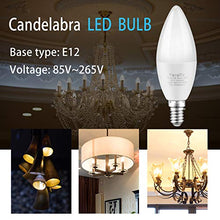 Load image into Gallery viewer, E12 LED Bulb Candelabra LED Bulbs Daylight White 5000K Ceiling Fan Light Chandelier Base Non Dimmable Equivalent 60Watt Candleabras 6W 550Lumens (6-Pack)
