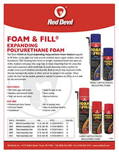 Load image into Gallery viewer, Red Devil 0908 Foam & Fill Large Gaps & Cracks Polyurethane Foam Sealant 8 oz Off White: Home Improvement