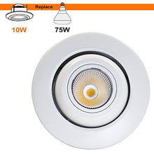 Load image into Gallery viewer, TORCHSTAR High CRI90+ 4 inch Dimmable Gimbal Recessed LED Downlight, 10W (75W Equiv) Energy Star, 2700K Warm White, 750lm, Adjustable LED Retrofit Lighting Fixture. Pack of 4: