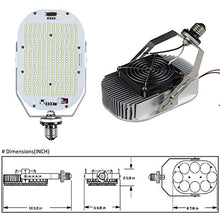 Load image into Gallery viewer, Hakkatronics 550W HID Bulbs LED Retrofit Kits(120W LED) with Power Supply (UL/DLC), Shoebox Wall Pack Canopy Floodlights High Bay Fixtures LED Retrofit Kits 4000K/18000 Lumens