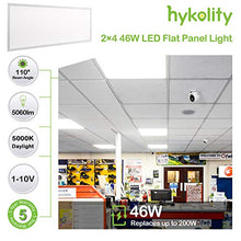 Load image into Gallery viewer, Hykolity LED 5000K 2x4 FT 46W Light, 0-10V Dimmable Drop Ceiling Flat Panel, Recessed Edge-Lit Troffer Fixture, Eligible for Nationwide Rebate Programs, 5750lm DLC Complied-2 Pack