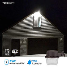 Load image into Gallery viewer, TORCHSTAR Dusk-to-Dawn LED Outdoor Barn Light (Photocell Included), 35W (250W Equiv.), 5000K Daylight Floodlight, DLC & ETL-Listed Yard Light for Area Lighting, 5-Year Warranty, Bronze