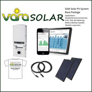 VARASOLAR: 5KW SOLAR PV BASE PACKAGE