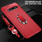 Soft Silicone With Magnetic Car Holder Case For Samsung Galaxy S10 and S10 Plus
