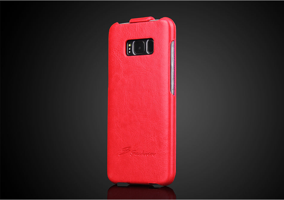 Flip Leather Case Vertical Up and Down Case For Samsung S9 S8 Note 8 Case Fundas