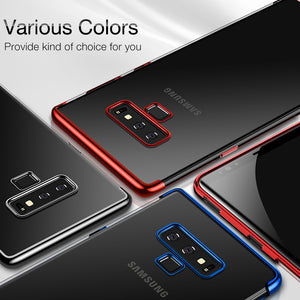 Plating TPU Ultra Soft Touch Transparent Thin Case Cover For Samsung Galaxy Note 9