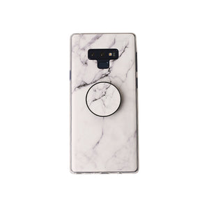 Luxury  Marble Stone Phone Case with Grip Stand Holder Cover Case For Samsung S8  S9 Plus Note 8 9