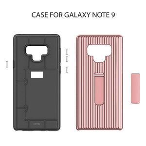 Kickstand Luggage Carrier Design TPU+PC 2 in 1 Dual Layer Hybrid Back Cover Case For Galaxy Note 9 8
