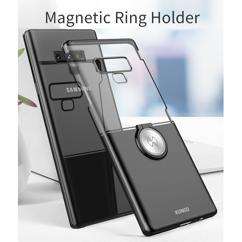 Finger Ring Buckle Hard PC back cover for Galaxy Note 9 Note 8 case with ring holder