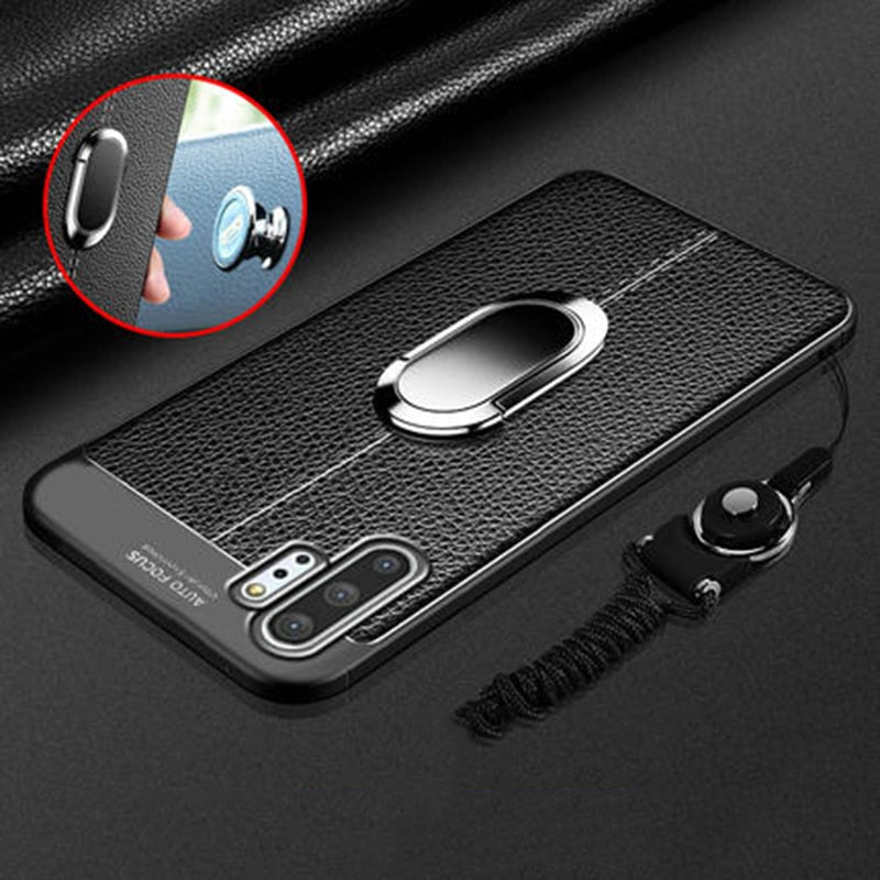 Luxury Leather Magnetic Ring For Samsung Galaxy Note 10 & Note 10 Plus