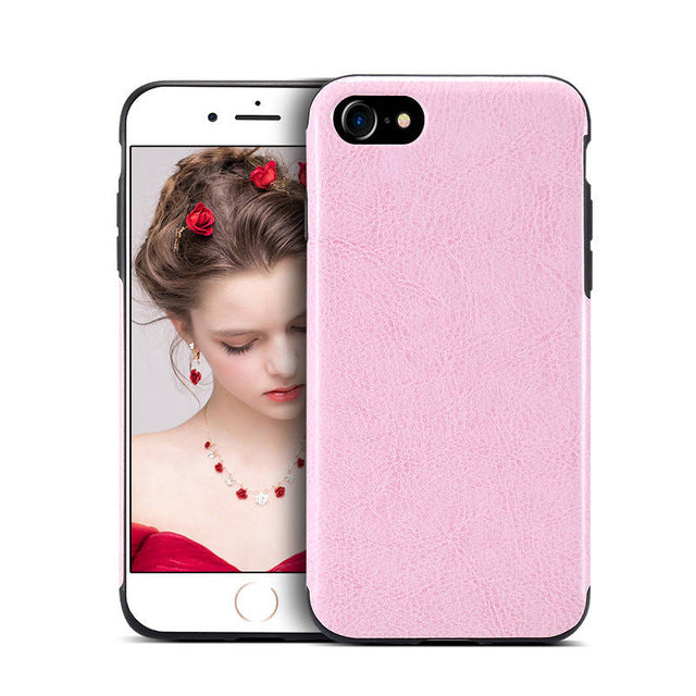 Retro Crazy Horse Style Leather Phone Bag Cases Cover For iPhone 7  6s 6 Plus X XS Max XR Precise Hole Case