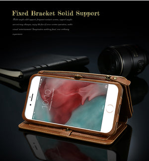 Retro Wallet Leather Bag For iPhone X XS Max
