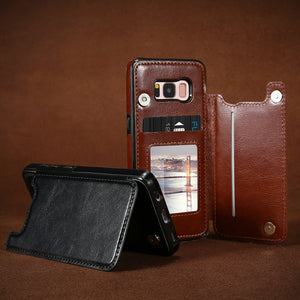 Leather Case For Samsung Galaxy S8 S9 Plus