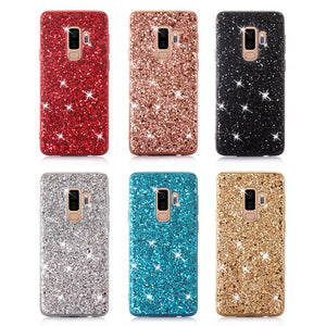 Silicon Bling Glitter Crystal Sequins Soft TPU Case For Samsung S9 & S9 Plus