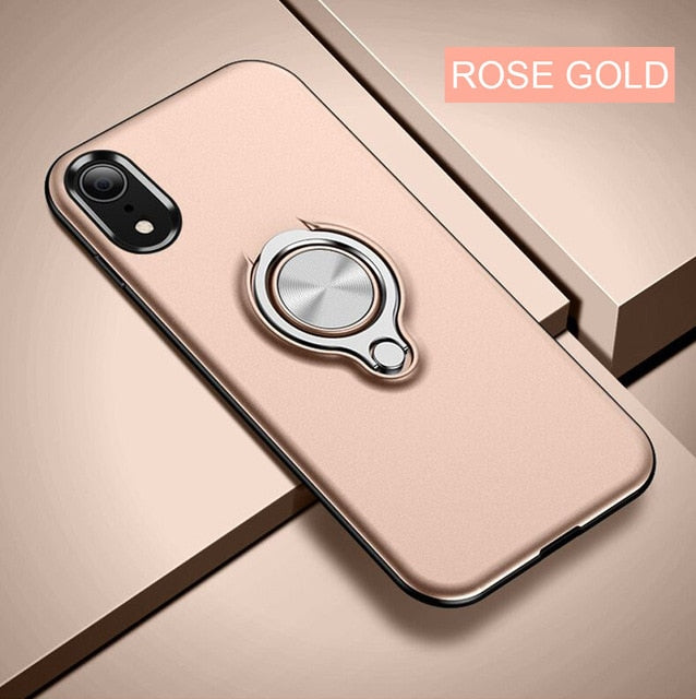Luxury Car Holder Ring Case For IPhone X XR XS Max