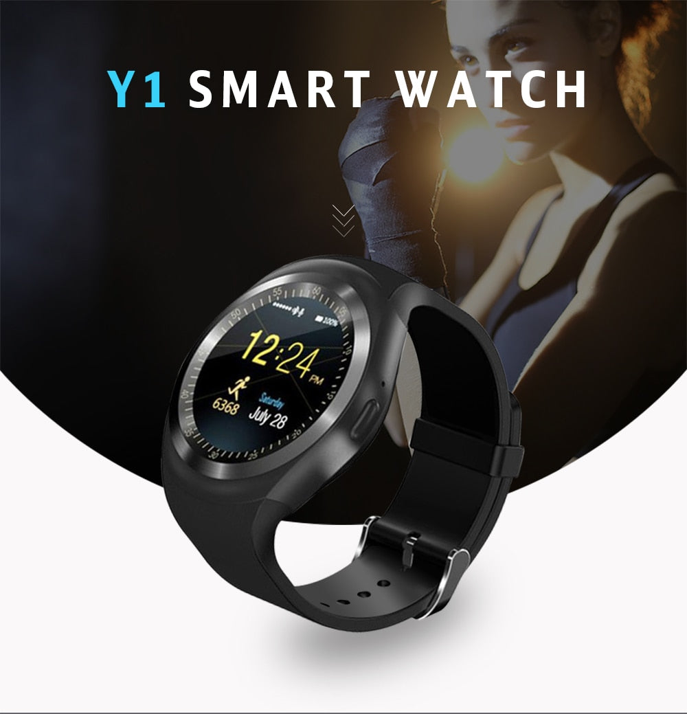 Bluetooth Y1 Android SmartWatch With GSM Sim – My Mobily Store