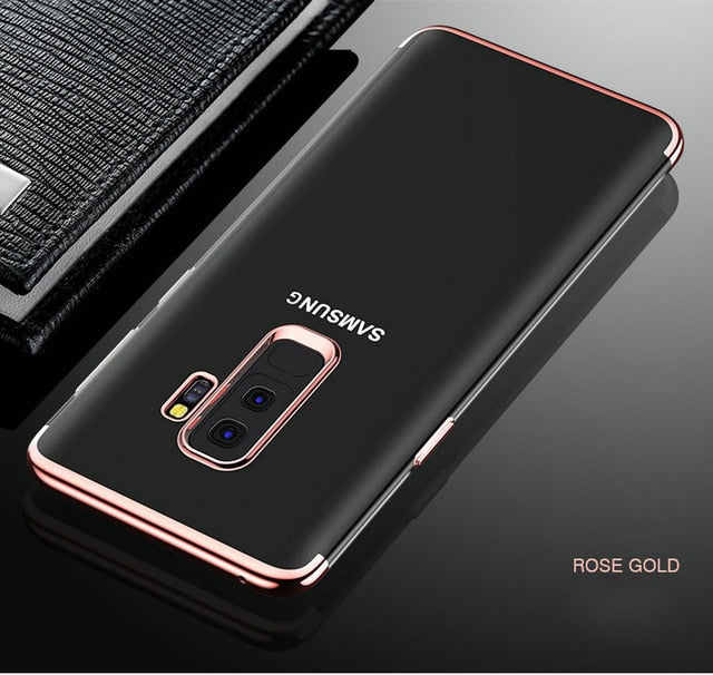 Luxury Laser Plating Soft Clear Phone Cases For Samsung
