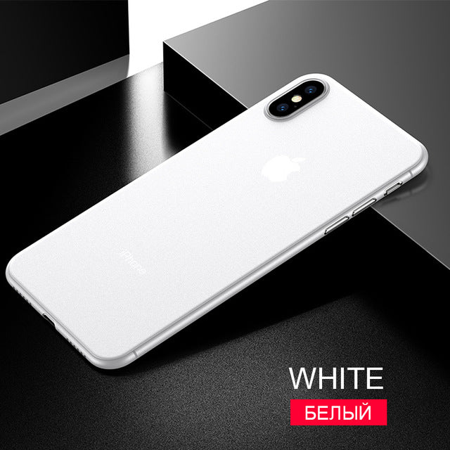 Ultra Thin 0.26mm Soft Case Cover For IPhone X XR XS Max 7 8 Plus Shockproof Case