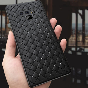 Weave Soft TPU Leather Pattern Matte Cover Case for Samsung Note 9 Galaxy S9 Plus S9