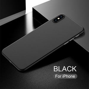 Ultra Slim Frosted Hard Shell Transparent Case Cover Skin For iPhone X