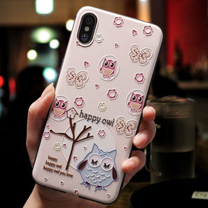 3D Cartoon Patterned Phone Case For iphone