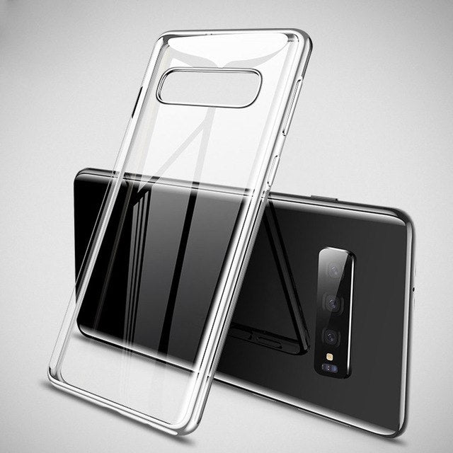 Luxury Clear Plating Case For S10 S10 Plus S10e