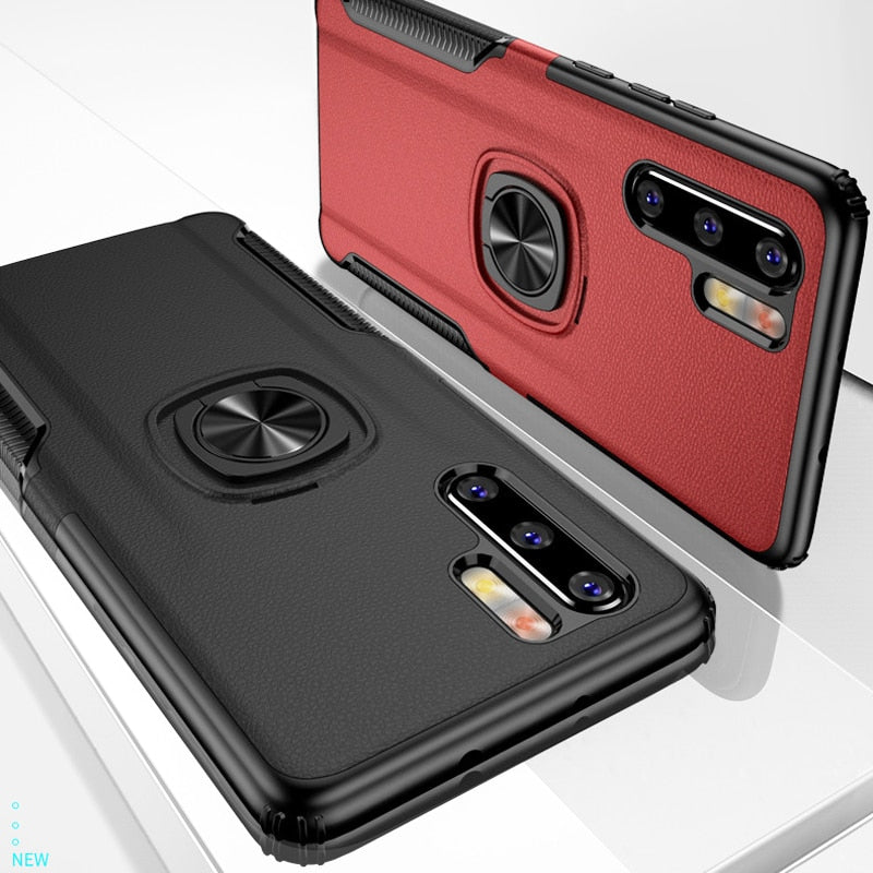 New Luxury Cases with Finger Ring & Magnetic For Car Holder for Huawei P30 Pro / P30 Lite / P30