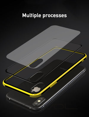 New Transparent Glass Case For iPhone