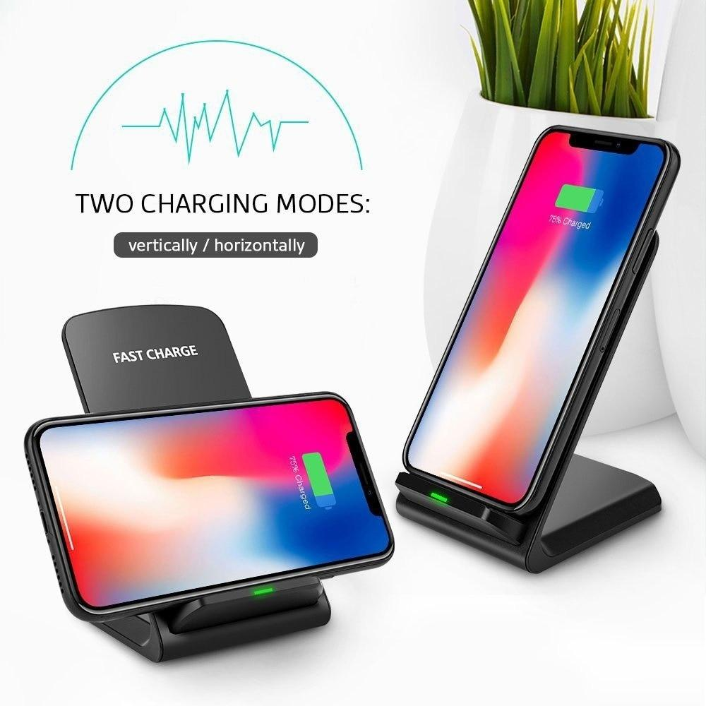 10W 2 Coils Qi Wireless Fast Charger