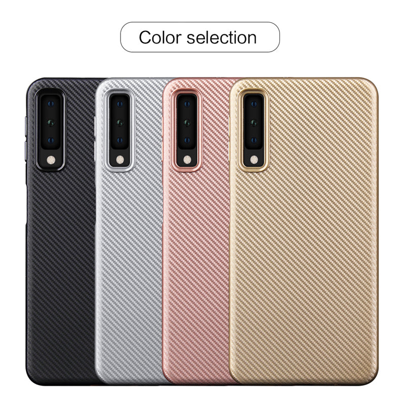 2018 Fashion Design Ultra-Thin Armor Case With Carbon Fiber Textures